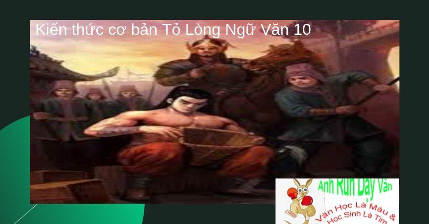 Kiến thức cơ bản Tỏ Lòng Ngữ Văn 10