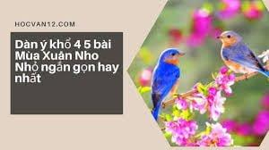 Dàn ý khổ 4 5 bài Mùa Xuân Nho Nhỏ ngắn gọn hay nhất 1